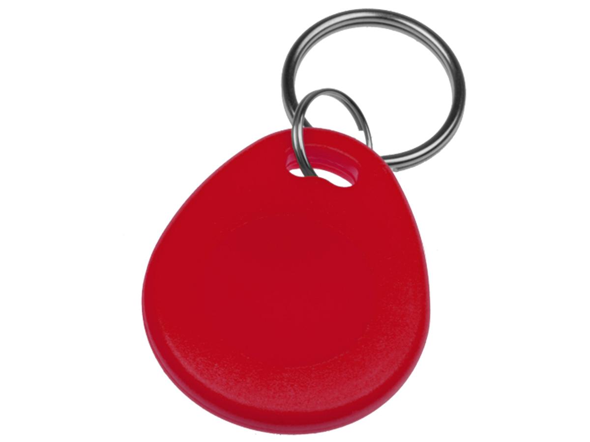 Identifikační klíčenka s kroužkem - červená
