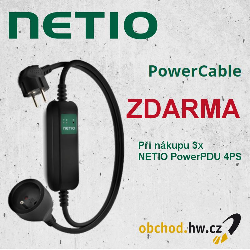 Akce - 3x NETIO PowerPDU 4PS + PowerCable zdarma